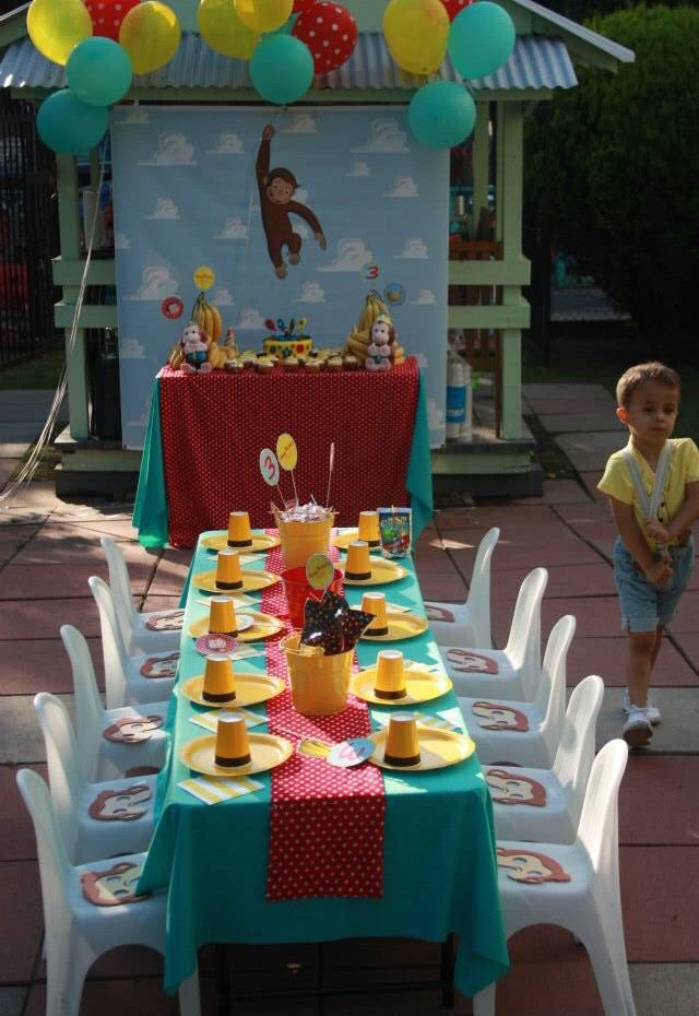 Evan Mathias 3rd Birthday Curios George Theme 2 Year Old Party