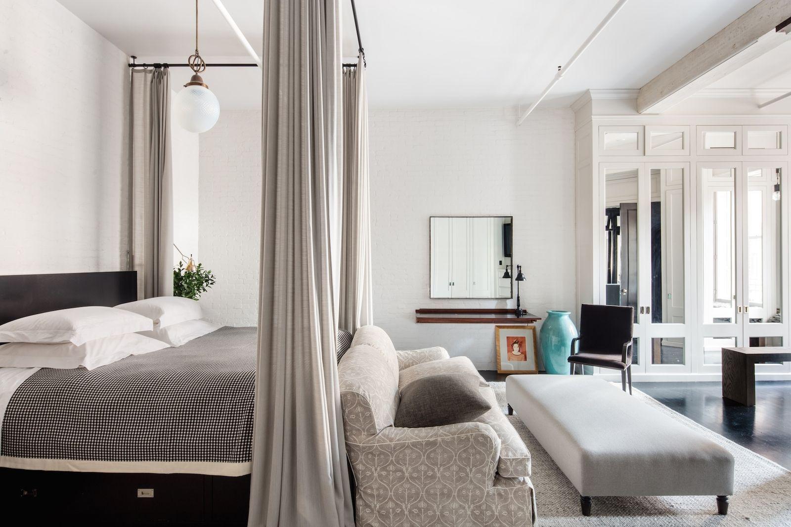 Elle decor master bedroom  Meg Ryanus Black And White SoHo Home Sells For  Million  BED