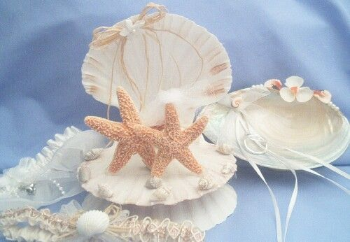 Starfish Wedding Cake Topper Sea Shell Base Beach Wedding