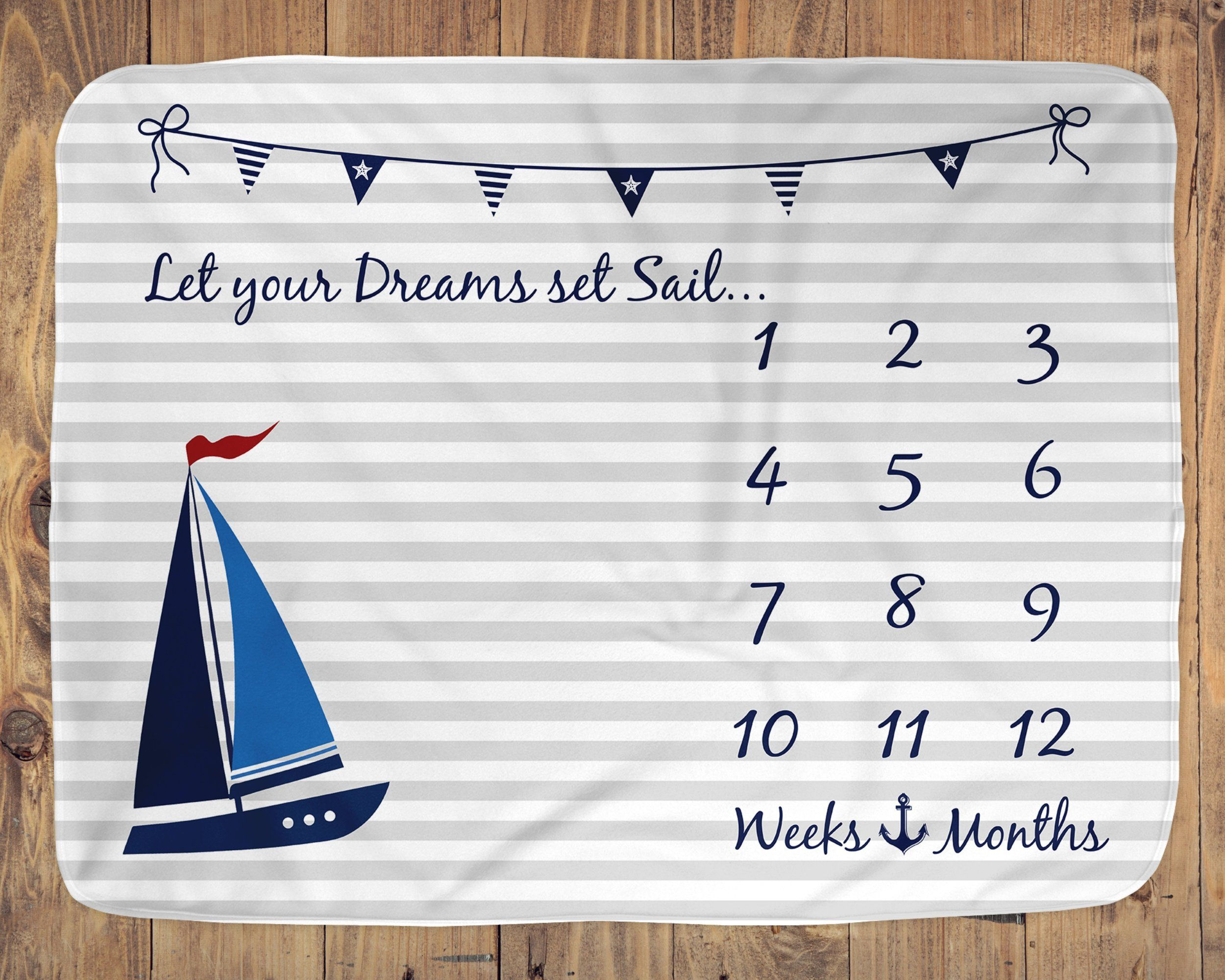 Nautical Gifts for Kids Name We Love You Every Inch of The Way Aquatic Decor Customized Growth Chart