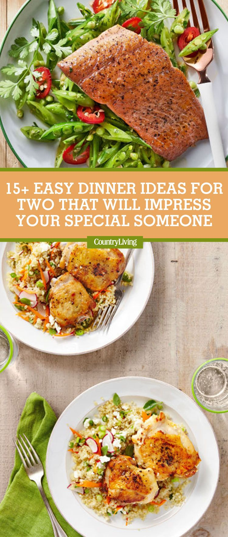 These Dinners For Two Will Make Your Next Date Night Extra Special Easy Dinner Healthy Meals For Two Easy Dinner Recipes