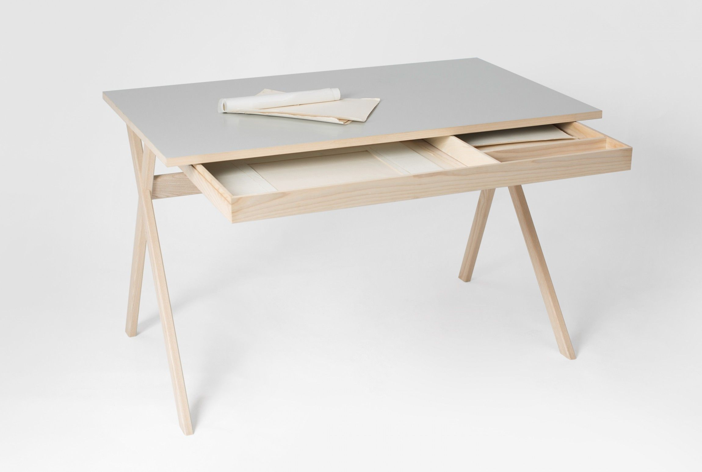 Atelier Desk Is A Minimal Desk Created By Germany Based Designers