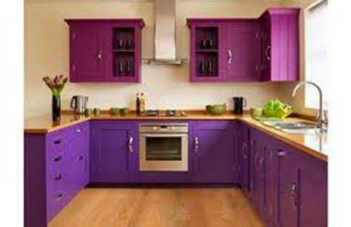 Desain Dapur Mewah Modern Dengan Warna Ungu Decor Purple Kitchen