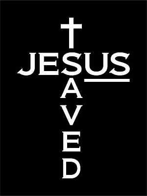 JESUS Saves Vinyl Decal Sticker Car Window Bible Decal Sticker 6 x3 in