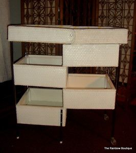 Vintage 1965 Badger Wicker Changing Table EUC