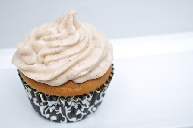 Pumpkin Spice Cupcakes w/ Honey Cinnamon Cream Cheese Frosting - Only made the frosting and it was super delicious!