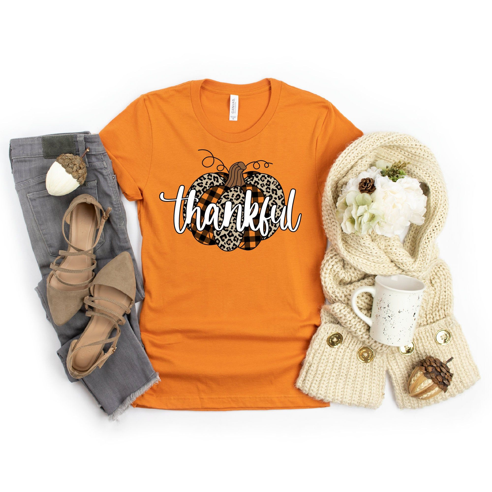 Leopard Pumpkin Shirt Thankful Shirt Cute Fall Shirts For Etsy In 2020 Fall Shirts Thankful Shirt Pumpkin Shirt