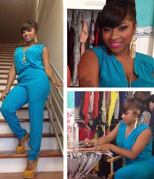 Toya Wright S Blue Jumpsuit At Garb Boutique Sip Amp Shop