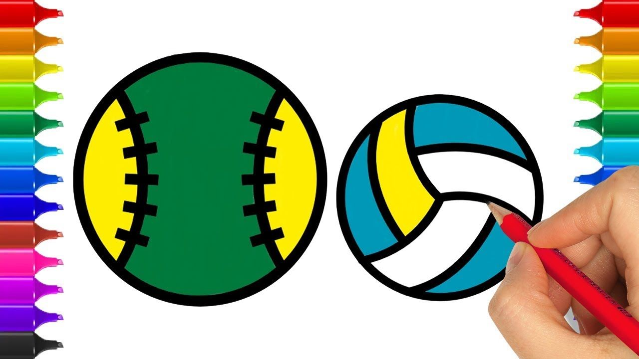 How To Draw Sports Balls I Coloring Pages Ball Basketball Pool Team S Sports Balls Coloring For Kids Coloring Pages