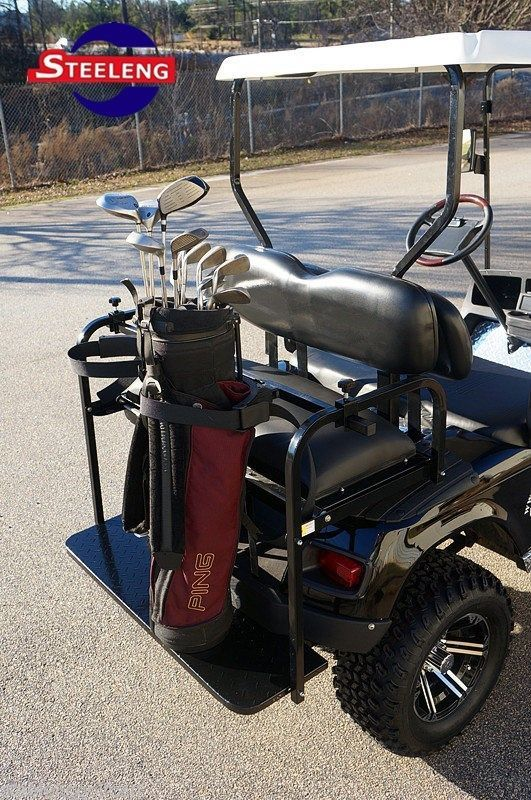 6378df98515a Universal Golf Bag Holder Bracket Attachment For Golf Cart Rear Seat ...