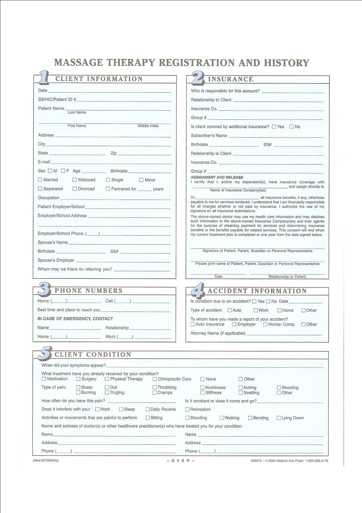 Intake Form Template. salon client intake form templates image ...