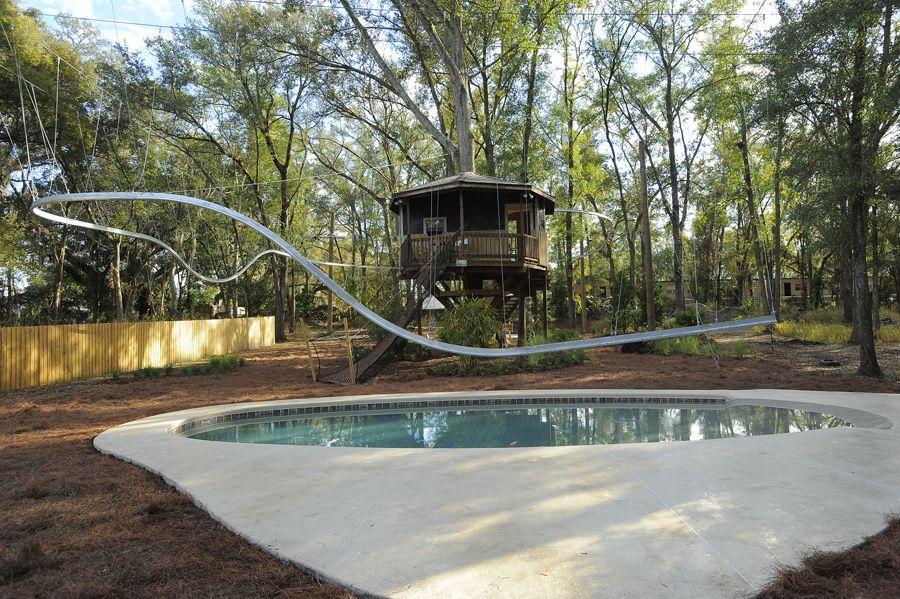 Dream Backyard On U0027My Yard Goes Disneyu0027. 300 Foot Zip Line Roller Coaster