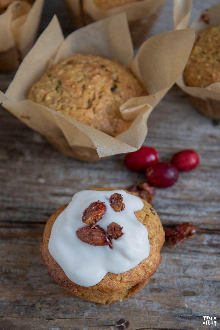 Karotten Muffins ohne Mehl und weissen Zucker - Mrs Flury - gesund essen & leben #cleaneating