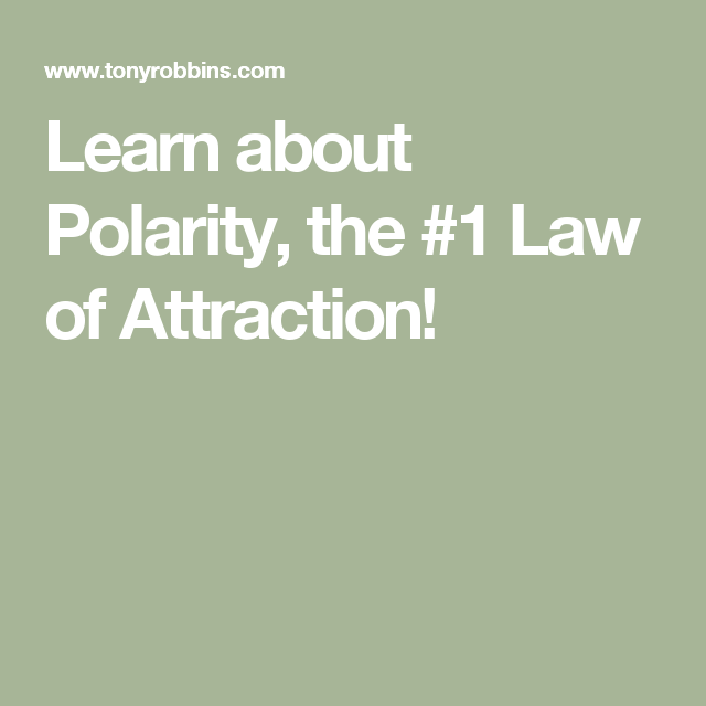 polarity in relationships