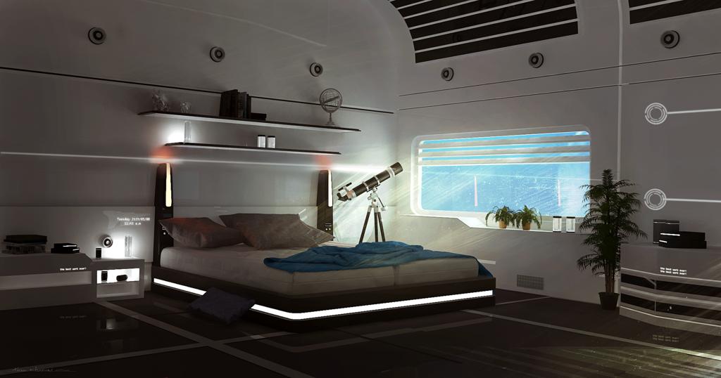 Sci fi Room By Tschreursdeviantartcom On DeviantArt