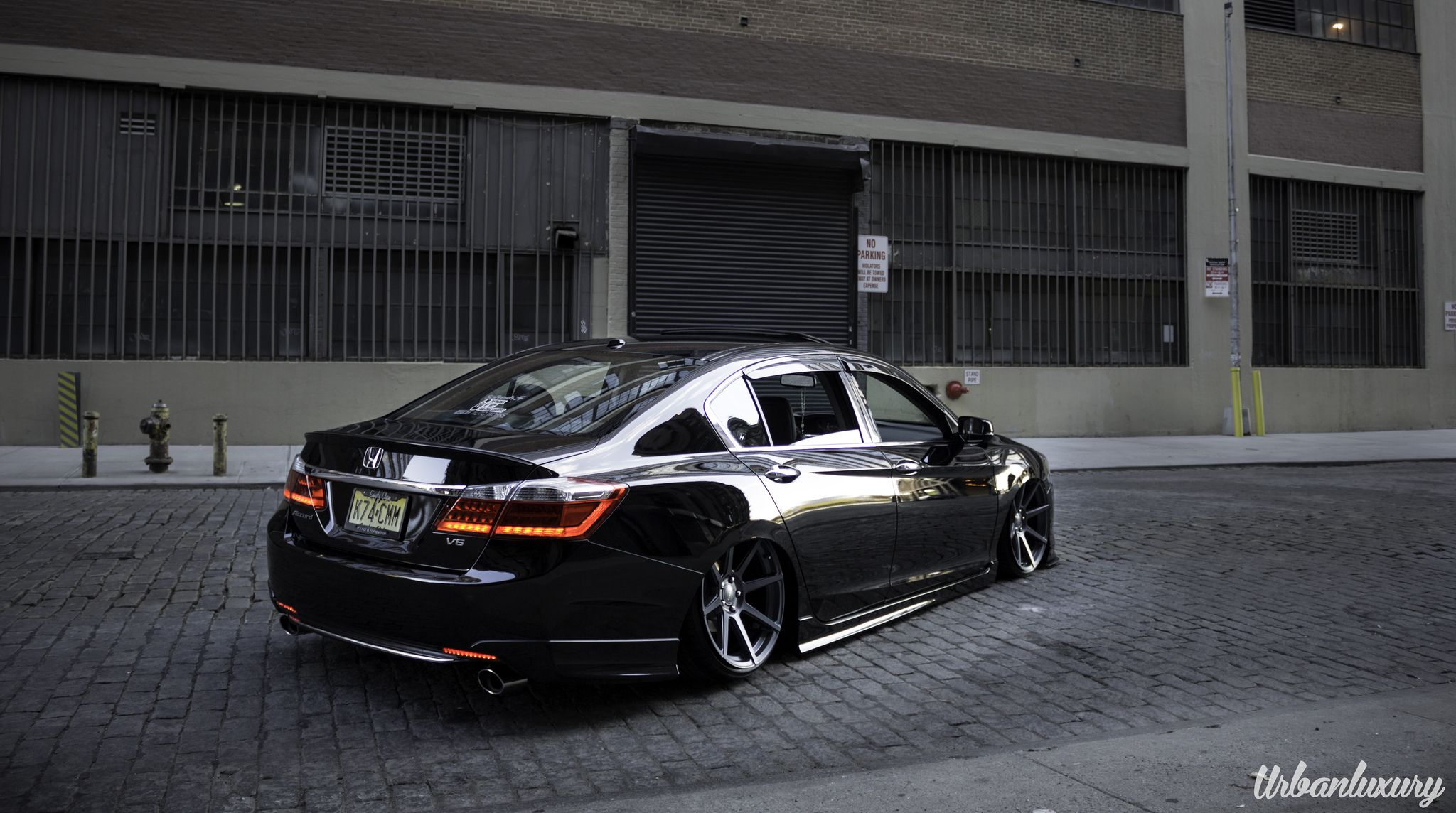 2013 Honda Accord Bagged on Velgen VMB8 20x105 Matte Gunmetal