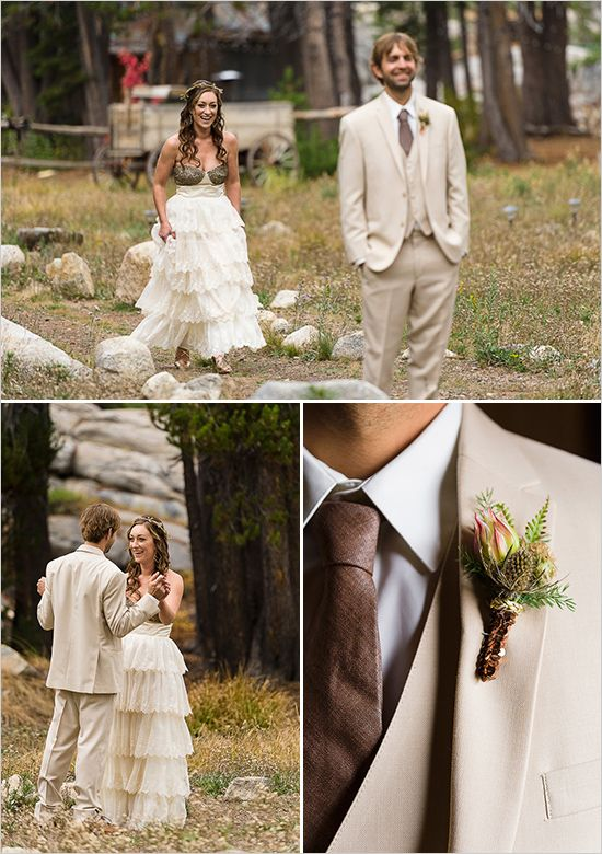 sequined boutonniere