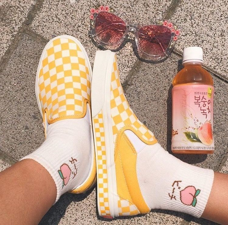 Image result for vans yellow checkered pinterest