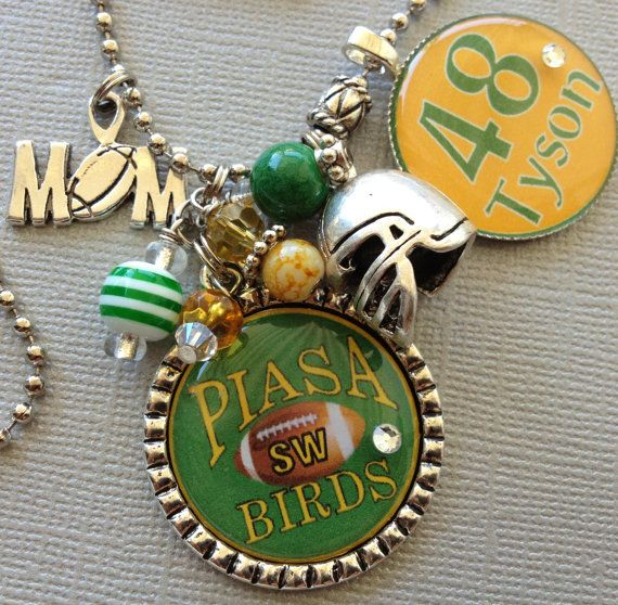 Football mom sports pendants number name charm and team colors football mom sports pendants number name charm and team colors silver pendant necklace mozeypictures Gallery