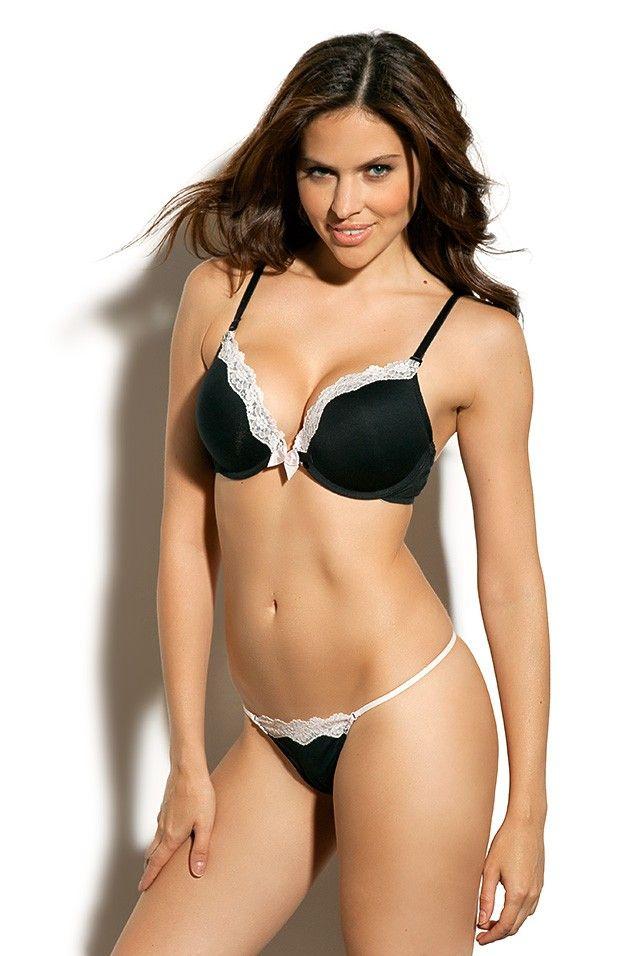 5b442b4d8616b black and white lace bra set