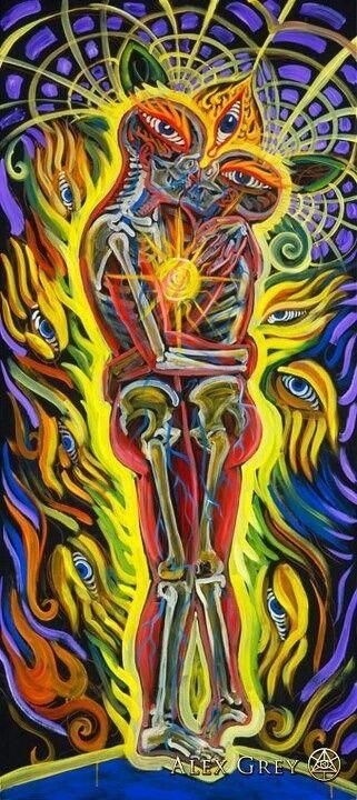 Love Power Alex Gray Art Alex Grey Visionary Art