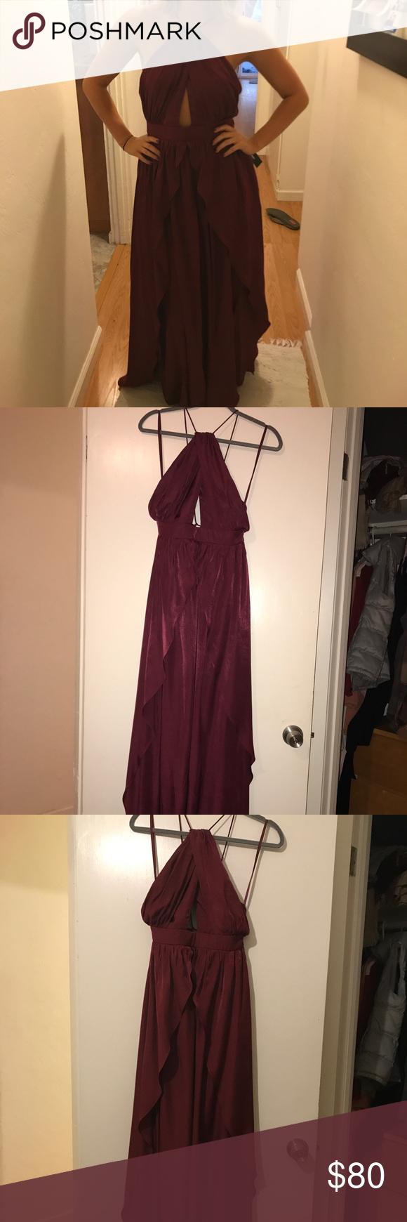 LULUS on my own burgundy maxi dress NWT  Pinterest  Burgundy maxi
