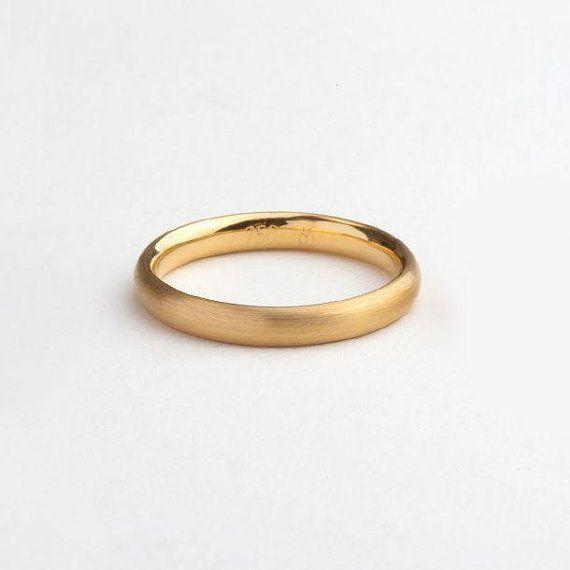 Perfect Round 18k Gold Wedding Band Ring Yellow 18 Karat Men S Women
