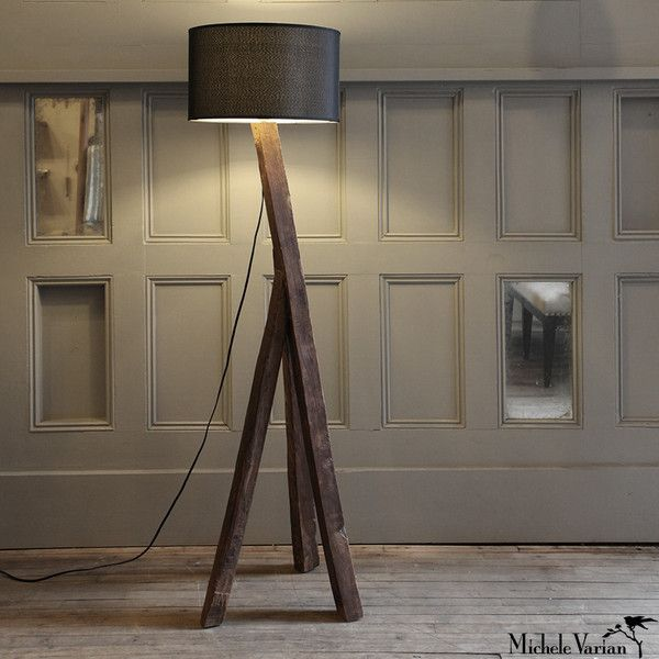 Reclaimed Wood Plank Lamp 298 From Michele Varian 27 Howard St Nyc Solid Recycled Elm Wood Floor Lamp This Rustic Wood Floors Wood Floor Lamp Wood Planks Distressed wood table lamp