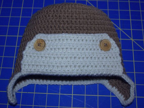 Toddler Size Avaitor Hat by SweetNothingsStitch on Etsy