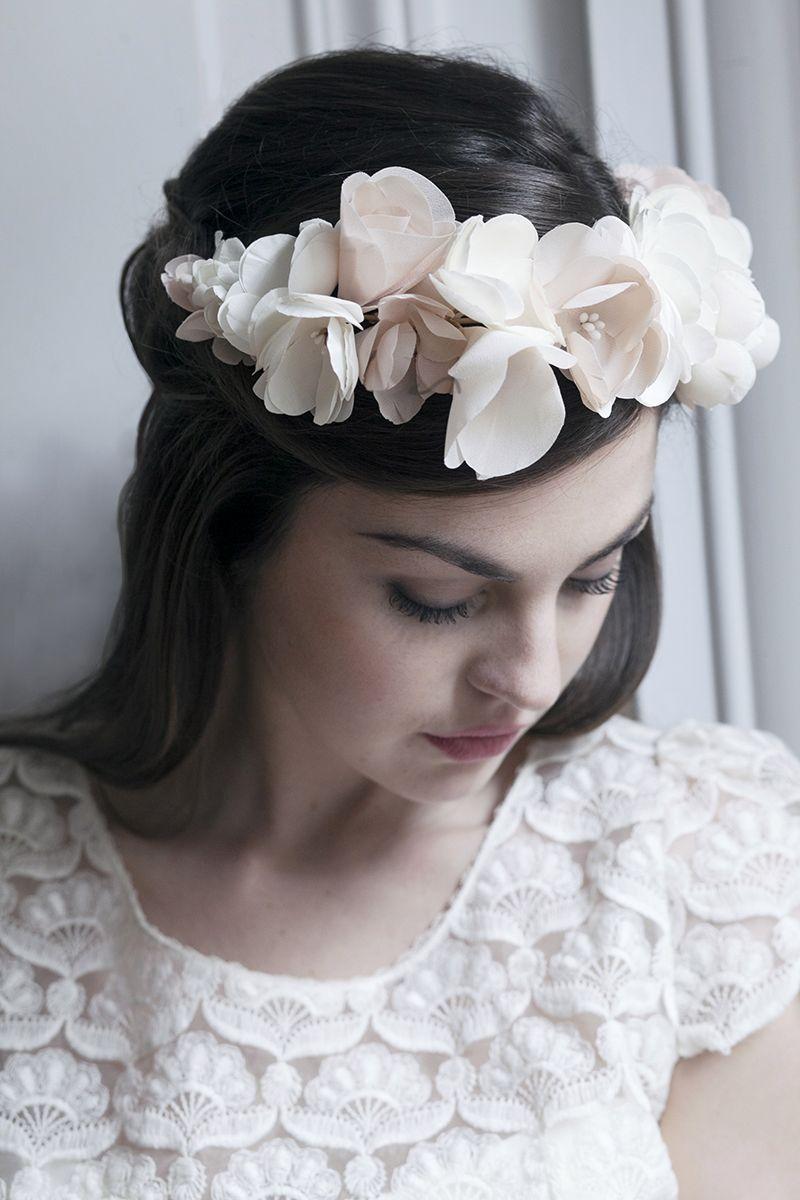 Headband de fleurs mariée - coiffure mariée