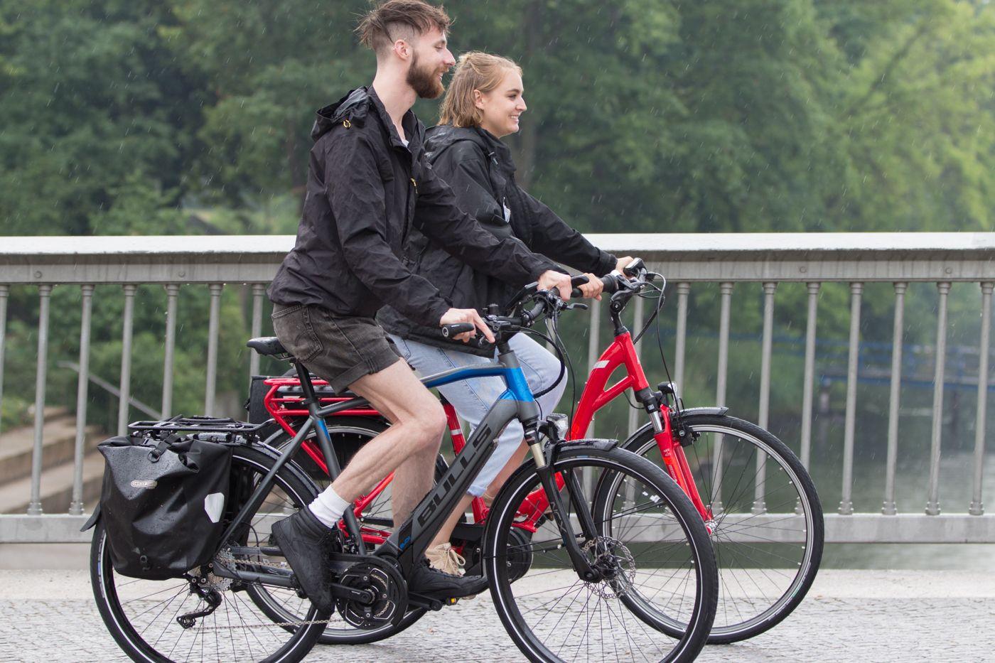 Fahrradfahren Macht Auch Im Regen Spass Fahrrad Fahren