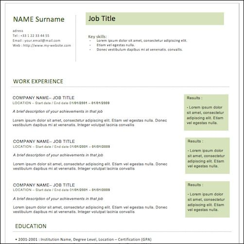 Best Resumes Extraordinary 35 Best Cv And Résumé Templates  Splash Magazine  Resumes  Pinterest