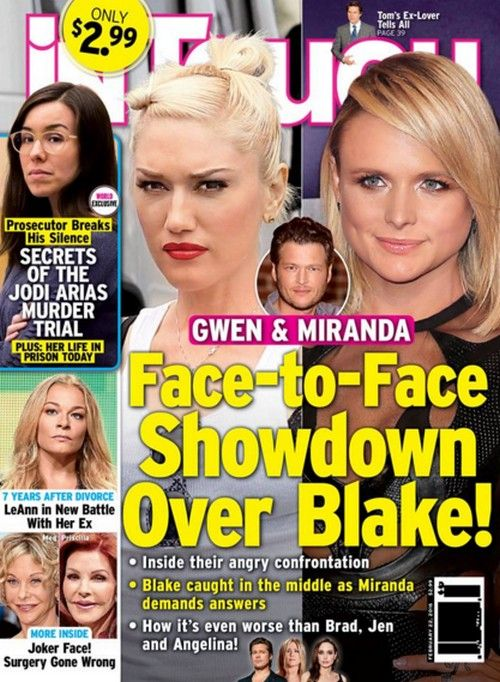 Gwen Stefani And Miranda Lambert Showdown Did Blake Shelton Cheat On Miranda With Gwen Before Divorce Blake Shelton Miranda Lambert Jodi Arias