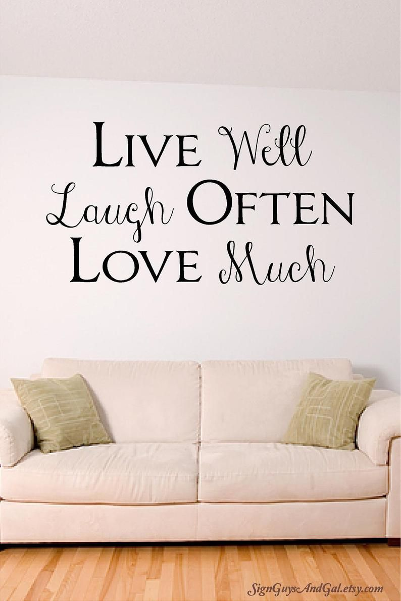 Live Well Laugh Often Love Much Home Wall Decal Home Decor Etsy