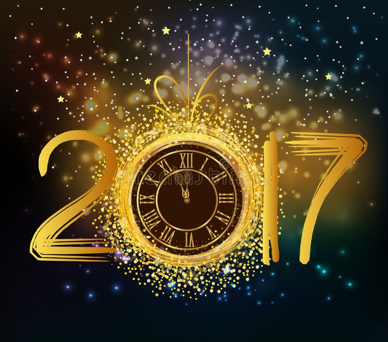 2017 Happy New Year Background With Gold Clock Spon Year Happy Clock Gold With Images Happy New Year Background New Years Background Happy New Year Fireworks