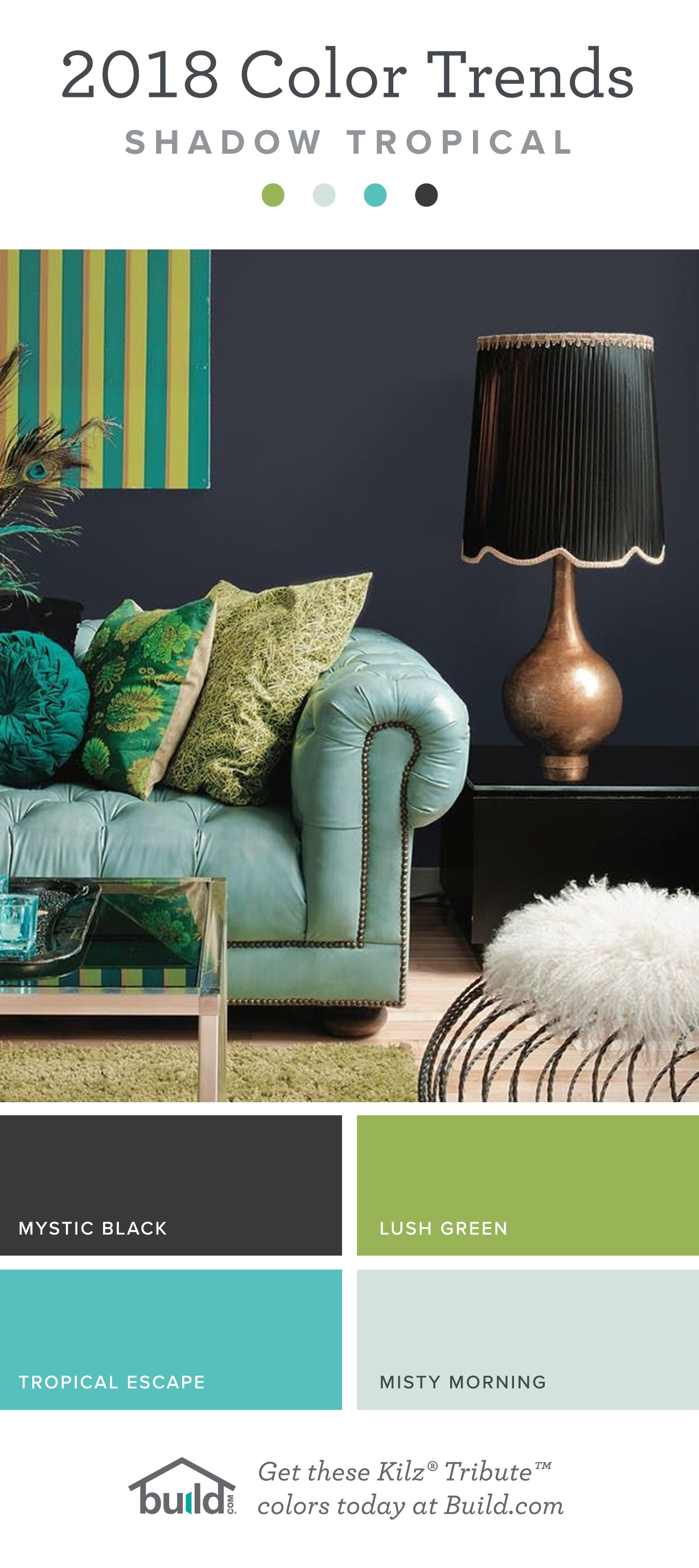 2018 Paint Color Trends - Shadow Tropical | Love Your Home | Love ...