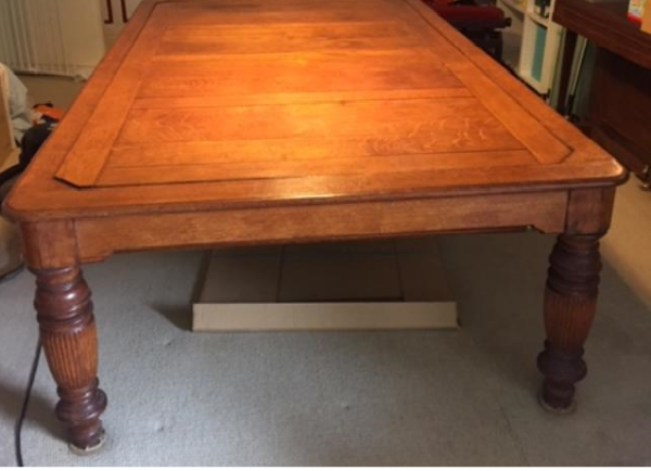 8ft Antique Rollover Snooker Dining Table Browns Antiques