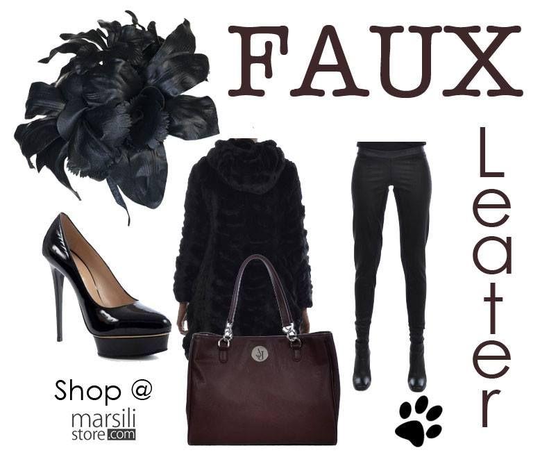 #ECOPELLE @ #MarsiliStore! Scopri l'eleganza e la vena #fashion del nostro lato #animalfriendly!  http://bit.ly/1wuVedr #Outfit #autunnoinverno2014