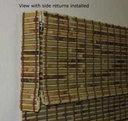 Bamboo Blinds With Side Returns   To Cover Hardware From Sideways Glance · Palace  InteriorSide ...