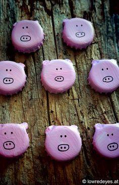 Glücksbringende Saubande …Brot statt Böller #bottlecaps