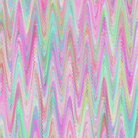 MARBLED PAPER CHEVRON  PINK MINT SHERBET WATERCOLOR fabric by paysmage on Spoonflower - custom fabric