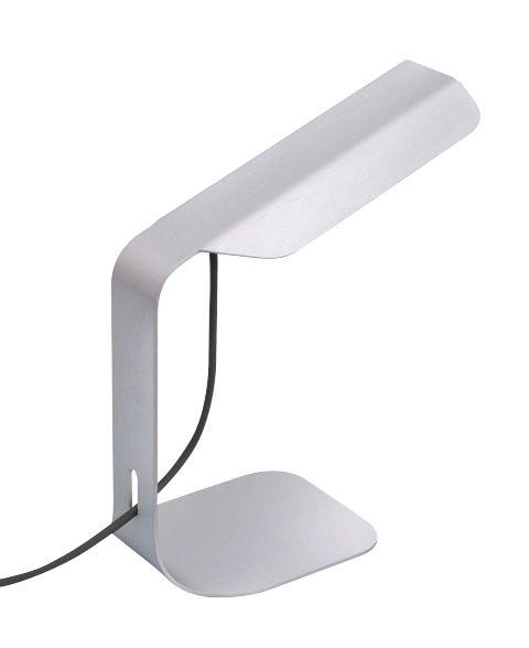 Hand welded metal table lamp in