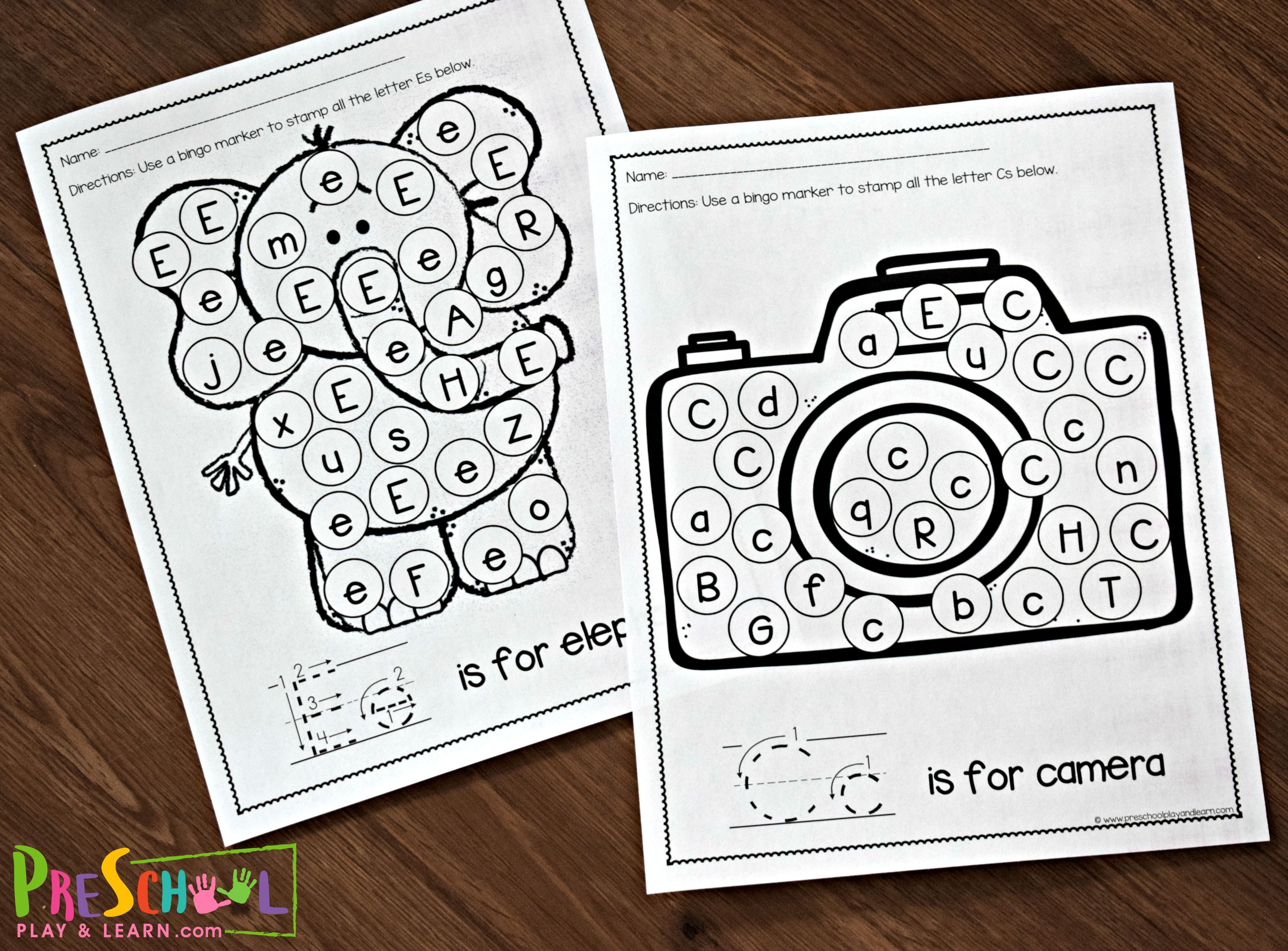 Free Letter Recognition Worksheets