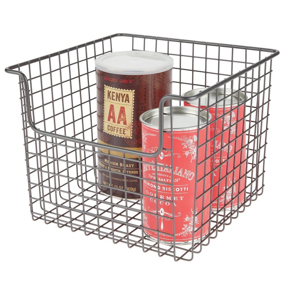 Metal Wire Kitchen Pantry Food Storage Basket 10 X 10 X 7 75 Storage Baskets Food Storage Kitchen Pantry