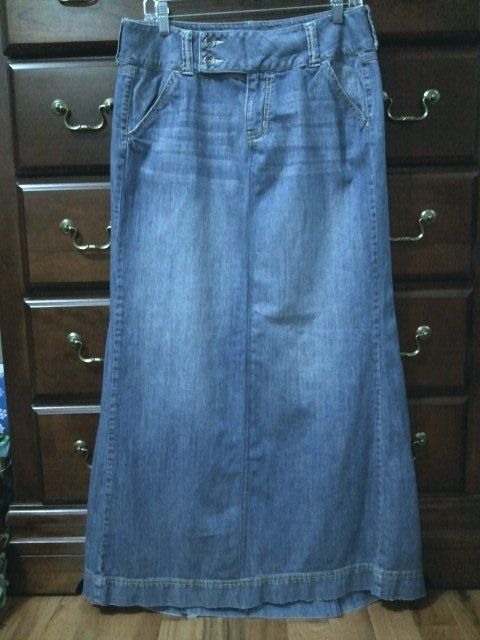 Gap long jean skirt by ModestyByAutumn on Etsy, $35.00