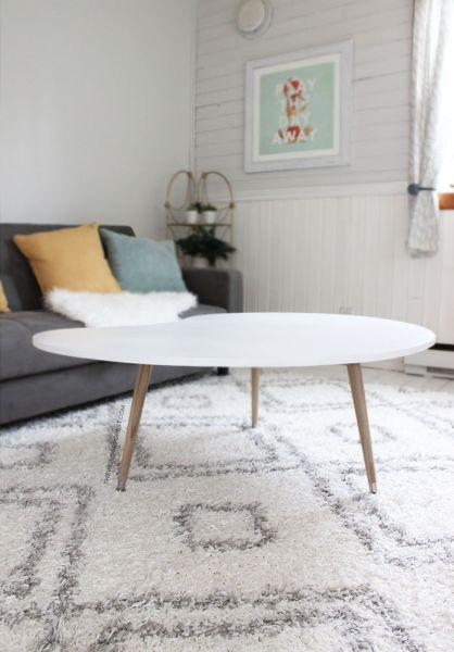 DIY Mid Century Modern Coffee Table (Under $50