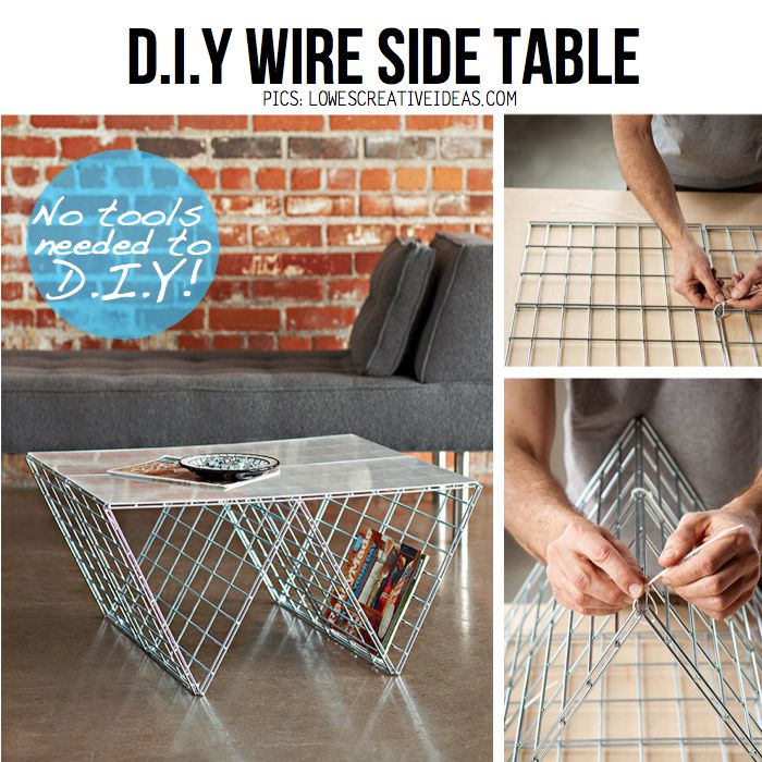 DIY Wire side table