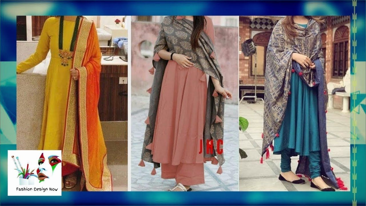 Latest simple and stylish plain dresses punjabi salwar suit designs fashion design now also rh pinterest