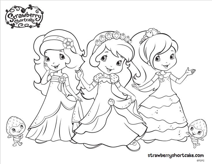 strawberry shortcake coloring page perfect party activity especially while guests are still arriving description from