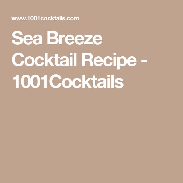 Cocktail Recipes, Food Recipes, Sea